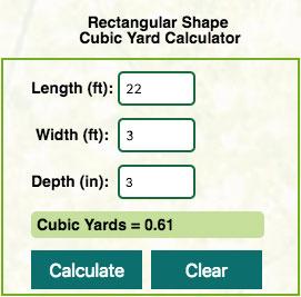Mulch Calculator Example